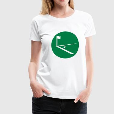 Soccer Corner in the circle  - Women's Premium T-Shirt