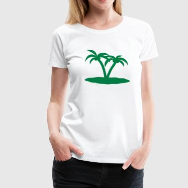 palm trees palmer - Dame premium T-shirt