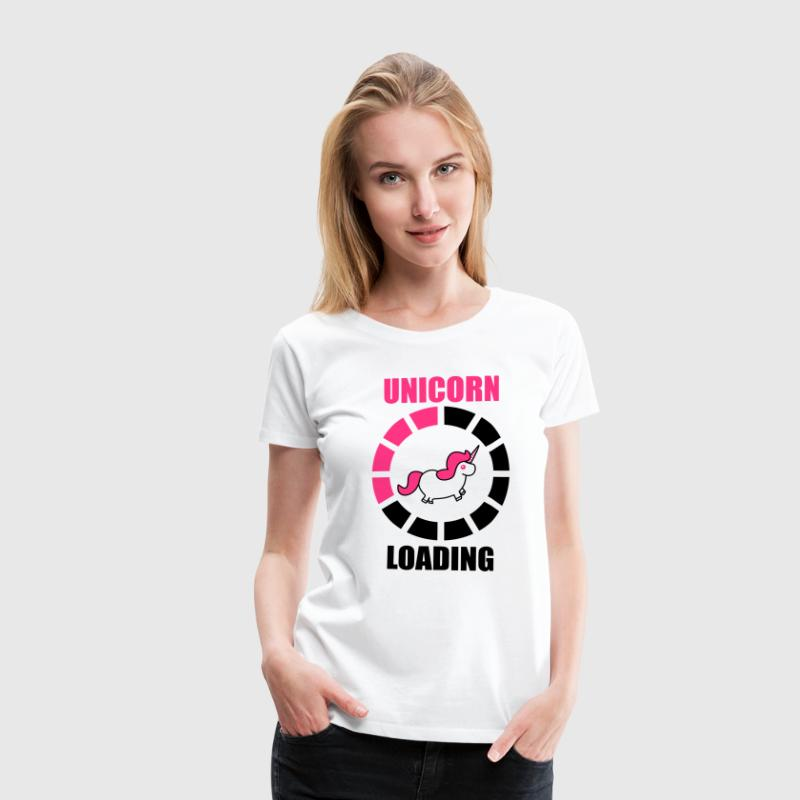 unicorn loading - Women's Premium T-Shirt