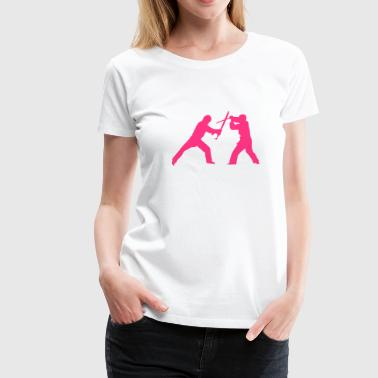 Sword fight de - Frauen Premium T-Shirt