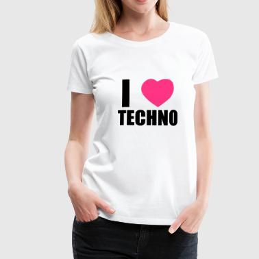 I LOVE TECHNO 2 - Premium T-skjorte for kvinner