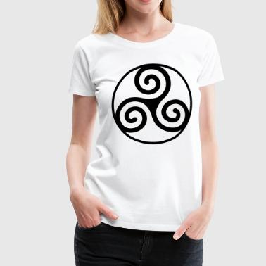Circled triskelion - Women's Premium T-Shirt