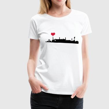 Love your City Industry - Vrouwen Premium T-shirt