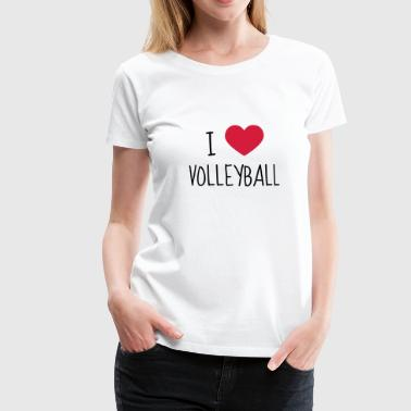 Volleyball - Volley Ball - Volley-Ball - Sport - Vrouwen Premium T-shirt