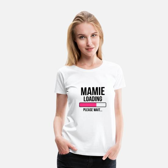 Grossesse T-shirts - Mamie Loading Please wait... - T-shirt premium Femme blanc