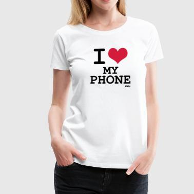 i love my phone by wam - Women's Premium T-Shirt
