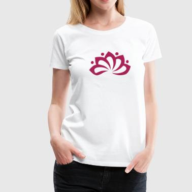 Lotus Flower, c, vector, symbol of perfection and enlightenment, sacred symbol - Camiseta premium mujer