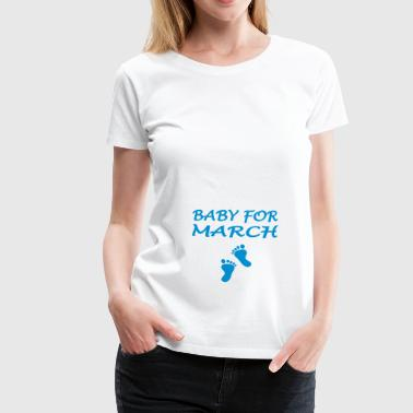 Baby for march - Frauen Premium T-Shirt