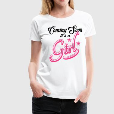 Shower Coming Soon - It's A Girl - Women's Premium T-Shirt