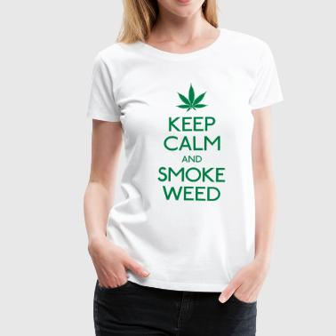 keep calm and smoke  houd kalm en rook  - Vrouwen Premium T-shirt