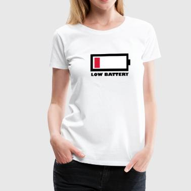 low battery - Frauen Premium T-Shirt