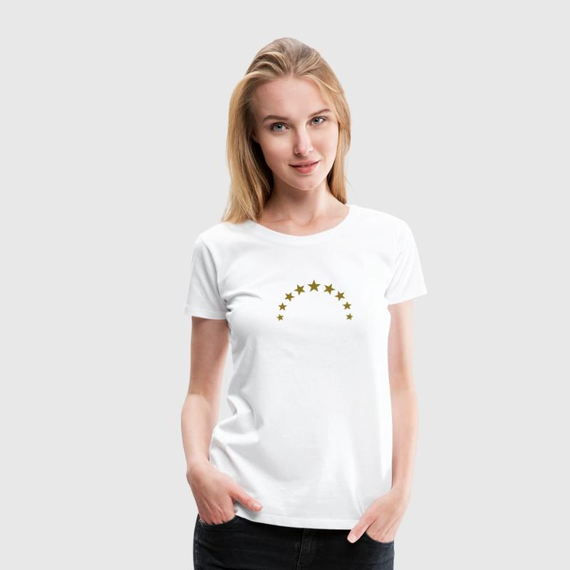 Star wreath, gold, team, winner, sport, crown - Women's Premium T-Shirt