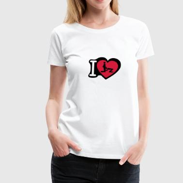 i love blow job pipe - T-shirt Premium Femme
