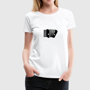 harmonika / Accordion (1c) - Dame premium T-shirt