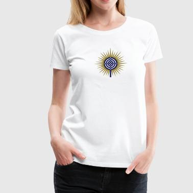 Cross of Atlantis - Platon - Symbol New Wisdom / - Women's Premium T-Shirt