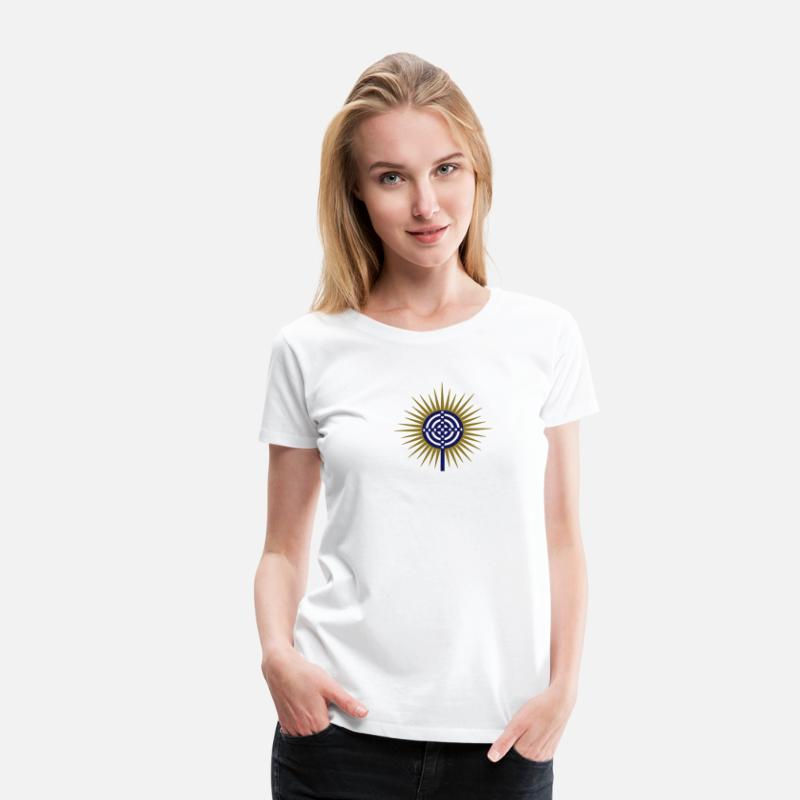 Atlantis Live Esoteric T-Shirts - Cross of Atlantis - Platon - Symbol New Wisdom / - Women's Premium T-Shirt white