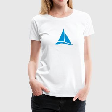 Sailing, sailor, sailboat, boat, sea, sailor, surf - Premium-T-shirt dam
