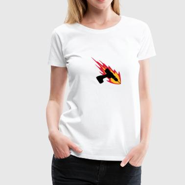 Cordless Drill On Fire - Women's Premium T-Shirt