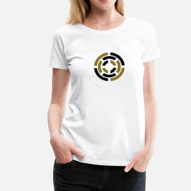 Superhelden Emblem Circle, Symbol, Sign, Icon, Emblem, Badge,  - Frauen Premium T-Shirt