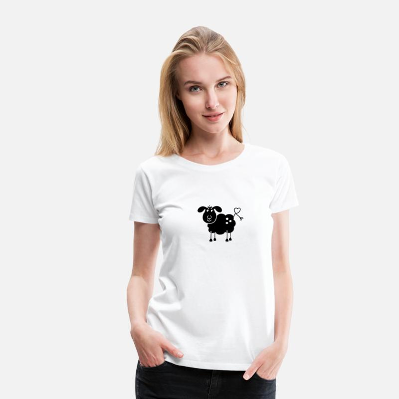 Solitaire T-shirts - Black Sheep - T-shirt premium Femme blanc