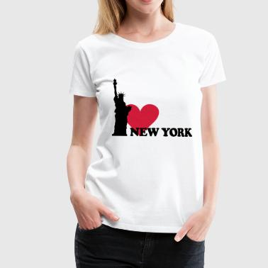 I love New York - NY - Frauen Premium T-Shirt