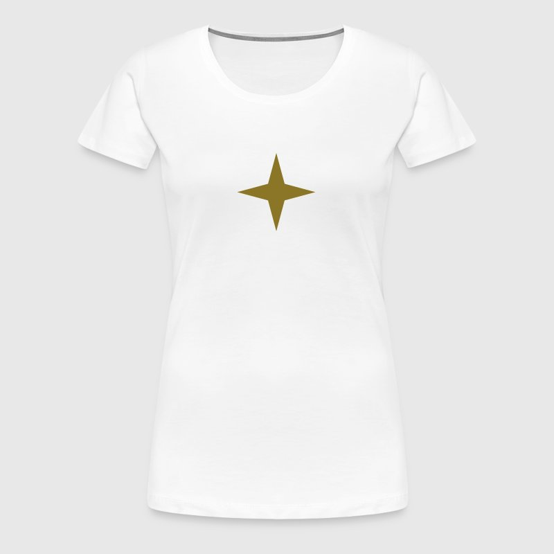 4 pointed star, Indians, symbol, universe, four - Women's Premium T-Shirt