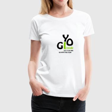 yoga inside - Frauen Premium T-Shirt