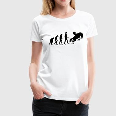 Evolution Pferd - Frauen Premium T-Shirt