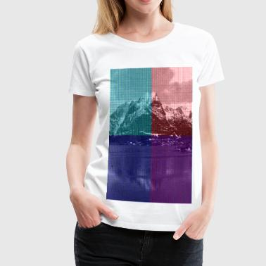 PIXELS MOUNTAIN - Women's Premium T-Shirt
