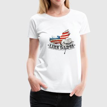 line dance - Women's Premium T-Shirt