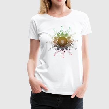 Music Note Heart music Mandala - Women's Premium T-Shirt