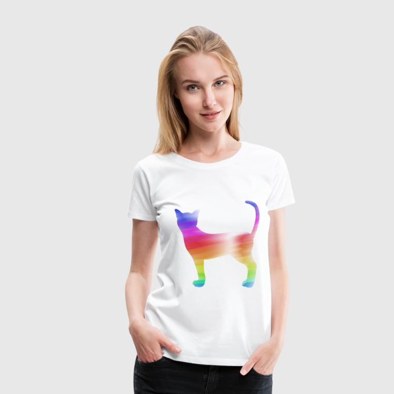 colorful cat - Vrouwen Premium T-shirt