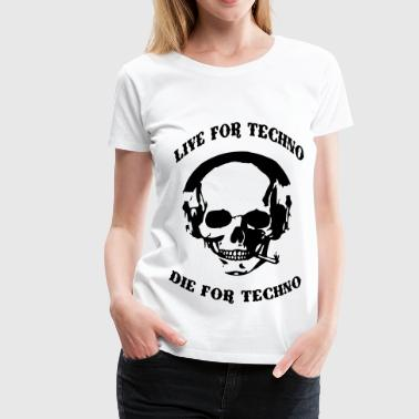 Techno Skull - Women's Premium T-Shirt