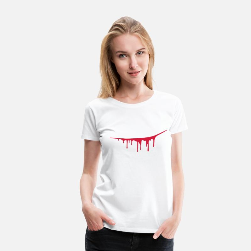 Attack T-Shirts - Scratch Wound - Women's Premium T-Shirt white