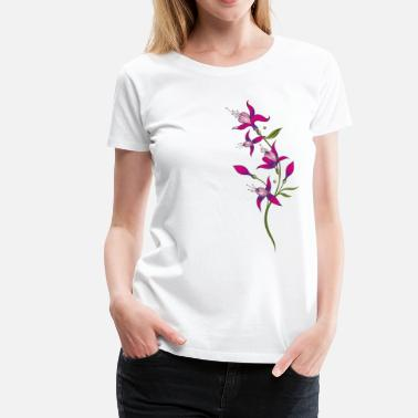 Fuchsia Summer flowers, fuchsias. Purple, pink. - Women's Premium T-Shirt