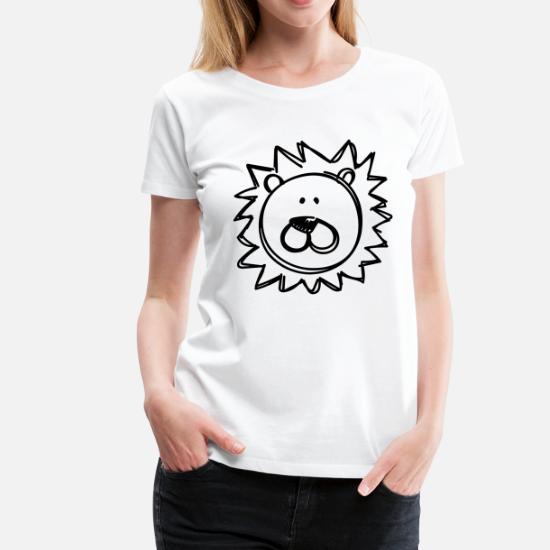 Di Maglietta Disegno Leone DonnaSpreadshirt Premium 8OwXn0kP