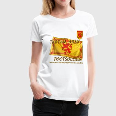 Tartan Army Footsoldier Football - Women's Premium T-Shirt