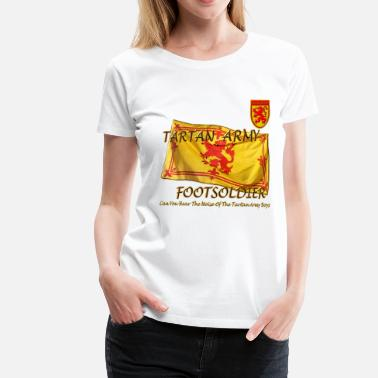 Tartan Football Tartan Army Footsoldier Football - Women's Premium T-Shirt
