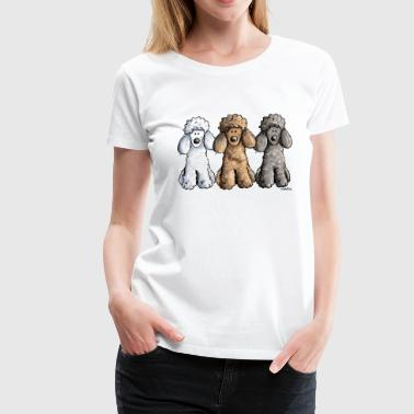 Best Friends Pudel - Frauen Premium T-Shirt