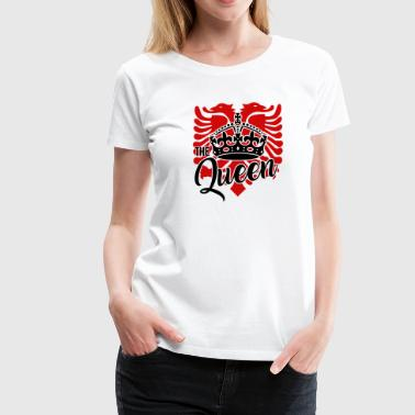 Albanian eagle for an albanian queen - Women's Premium T-Shirt