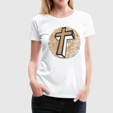 JESUS CHRIST CROSS T-SHIRT - Women's Premium T-Shirt
