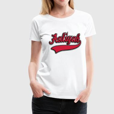 Aaliyah - Name as a sport swash - Women's Premium T-Shirt