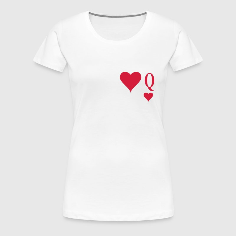 Heart Queen | queen of hearts | Q - Women's Premium T-Shirt