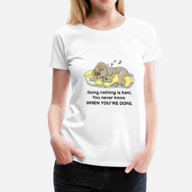 Sausage Funny dog is sleeping after hard work. Present - Women's Premium T-Shirt