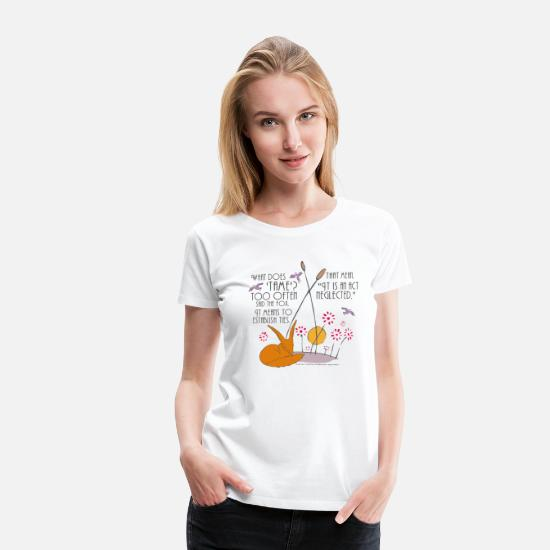 Prince T-Shirts - The Little Prince Friendship Taming The Fox - Women's Premium T-Shirt white