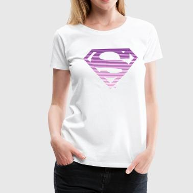 DC Comics Superman Classic Logo Striped - Dame premium T-shirt