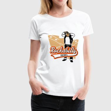 Collegejacken Rockabilly Rebel - Frauen Premium T-Shirt