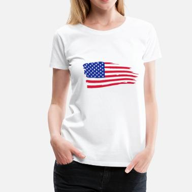 Amerikaanse usa_flag_on_white - Vrouwen Premium T-shirt