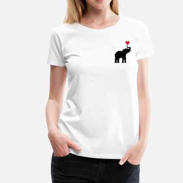 Elephant heart - Women's Premium T-Shirt
