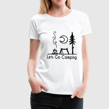 lets go camping camping - Women's Premium T-Shirt